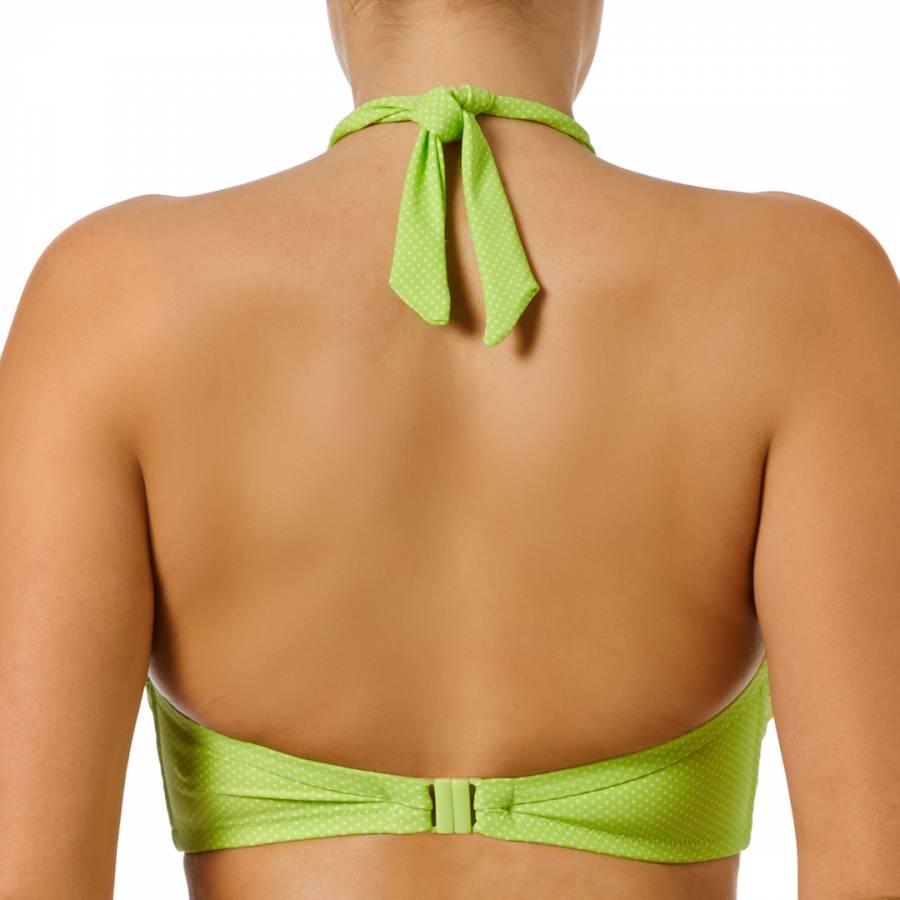 acbd432eab Lime Green Cherish Underwired Bandeau Bikini Top - BrandAlley