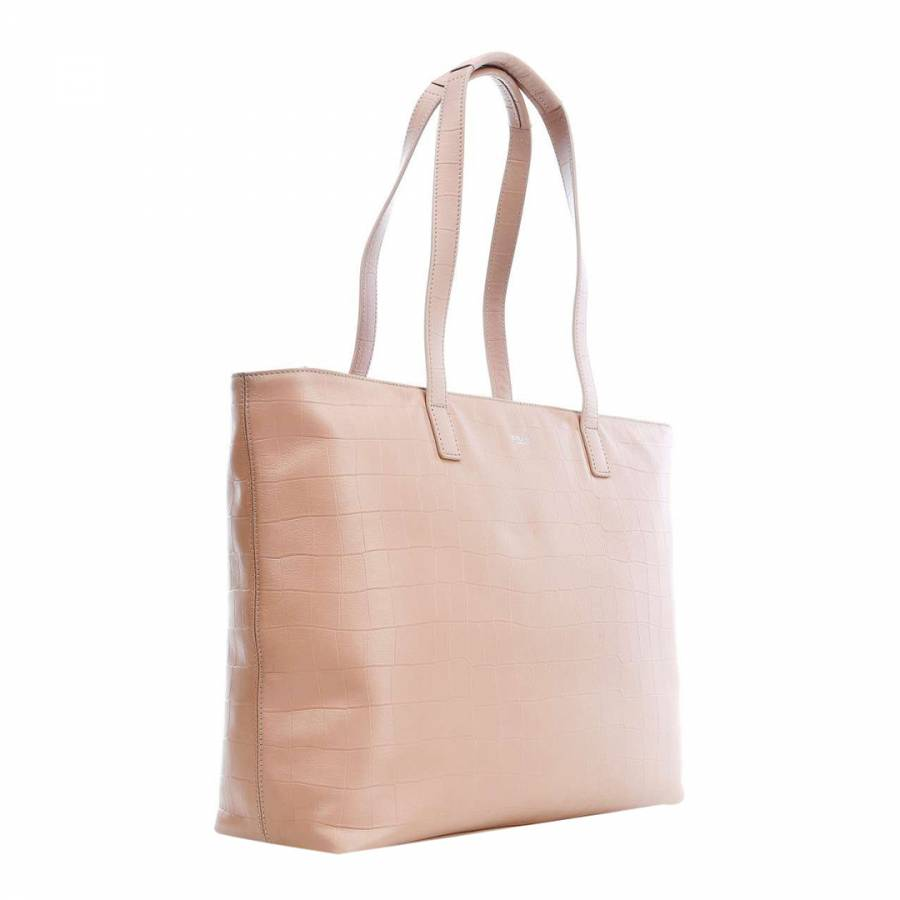 Nude Croc Leather 15   Maddox Zip Top Tote - BrandAlley 6f4b6a33c00cb