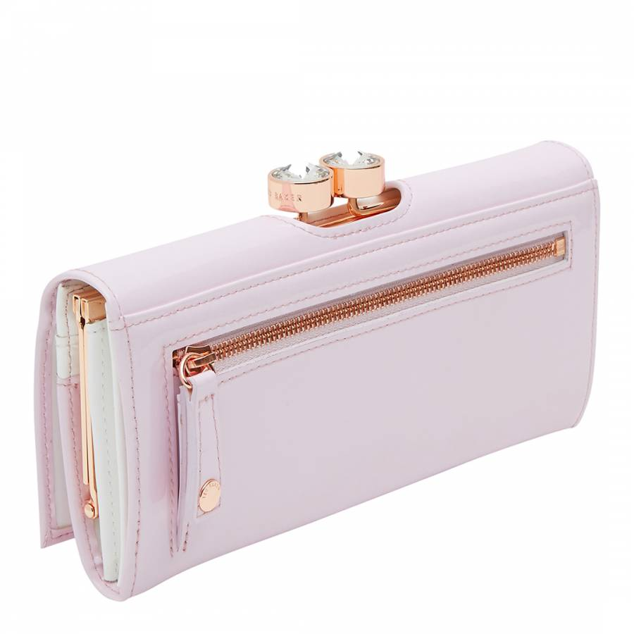 5a2d4ee14 Pale Pink Leather Merlow Turbine Crystal Frame Matinee Purse - BrandAlley