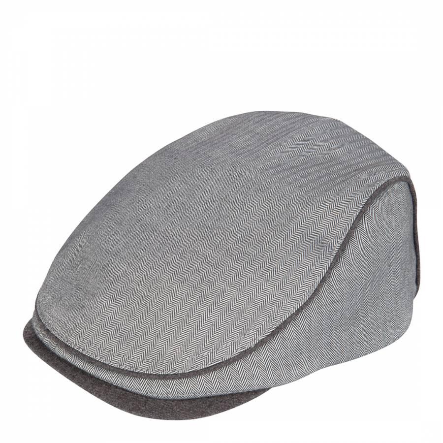 129e95d88 Men's Grey Pherlop Herringbone Flat Cap