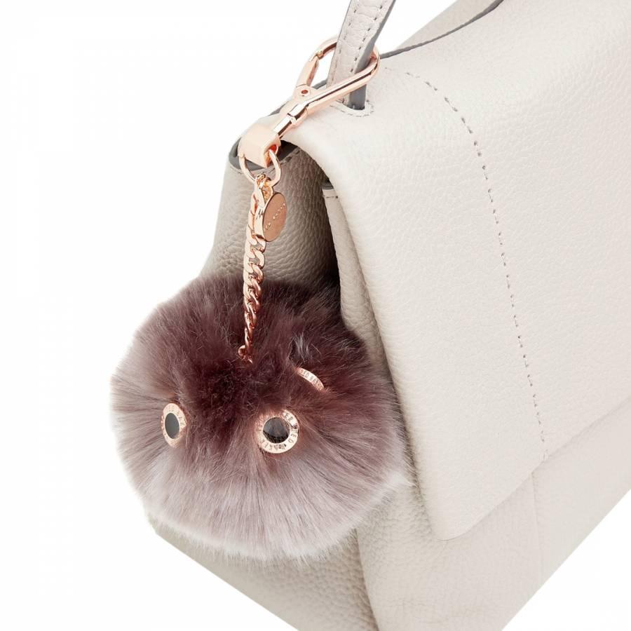 Purple Lolaa Fluffy Character Bag Charm - BrandAlley b18bdeec33b2c