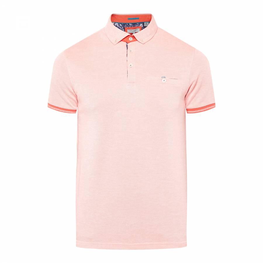 a8a1ba1f46be6d Bright Orange Abadaba Flatknit Collar Oxford Polo - BrandAlley