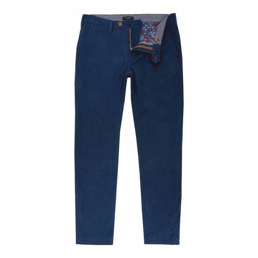 dbc92e96ba41 Dark Blue Serny Slim Fit Chino - BrandAlley