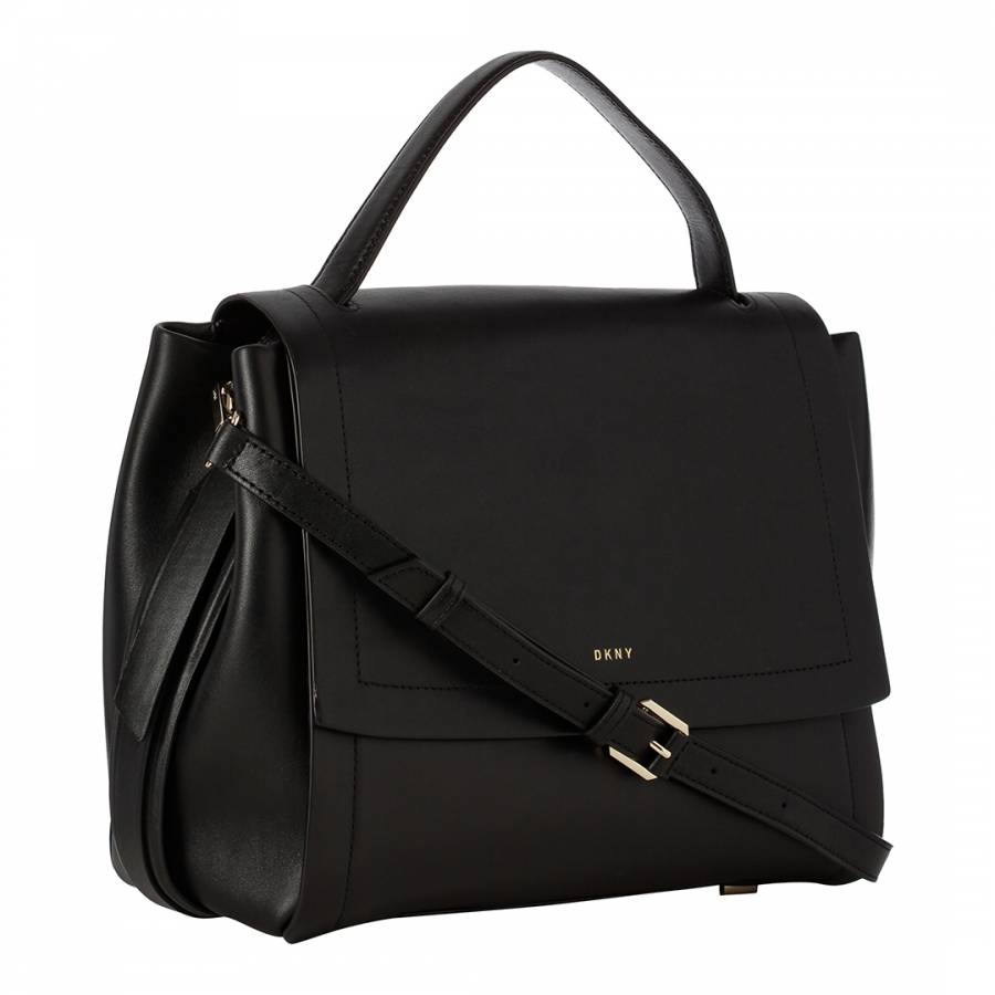 Black Leather DKNY Tote Bag - BrandAlley d6685c5fefa8f