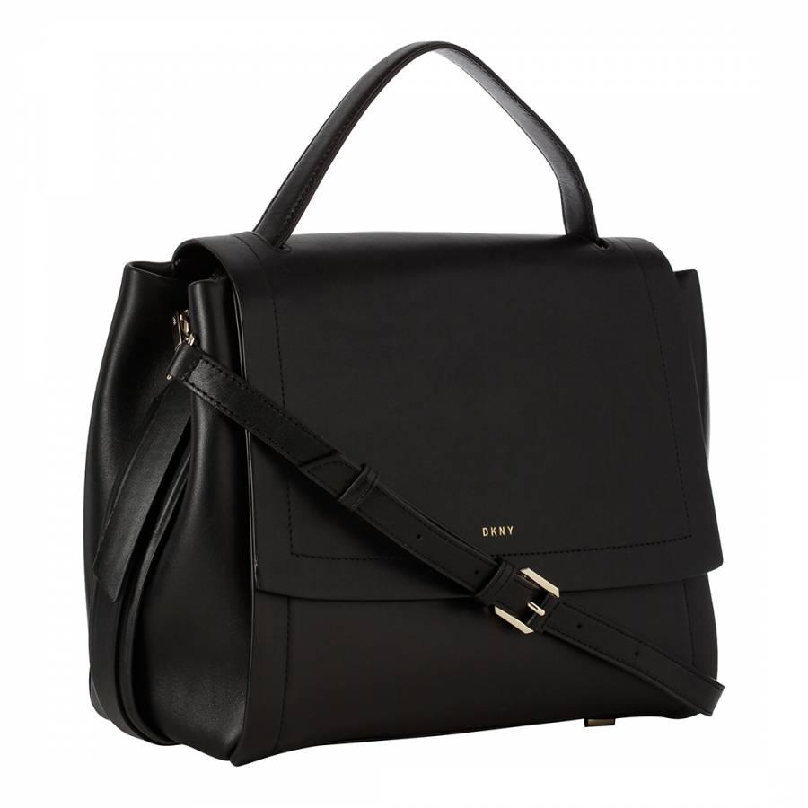 Black Leather DKNY Tote Bag - BrandAlley eba69926d0f16