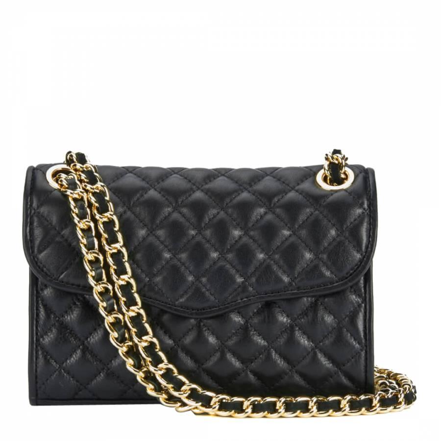 Rebecca Minkoff Black Leather Mini Quilted Affair Shoulder Bag