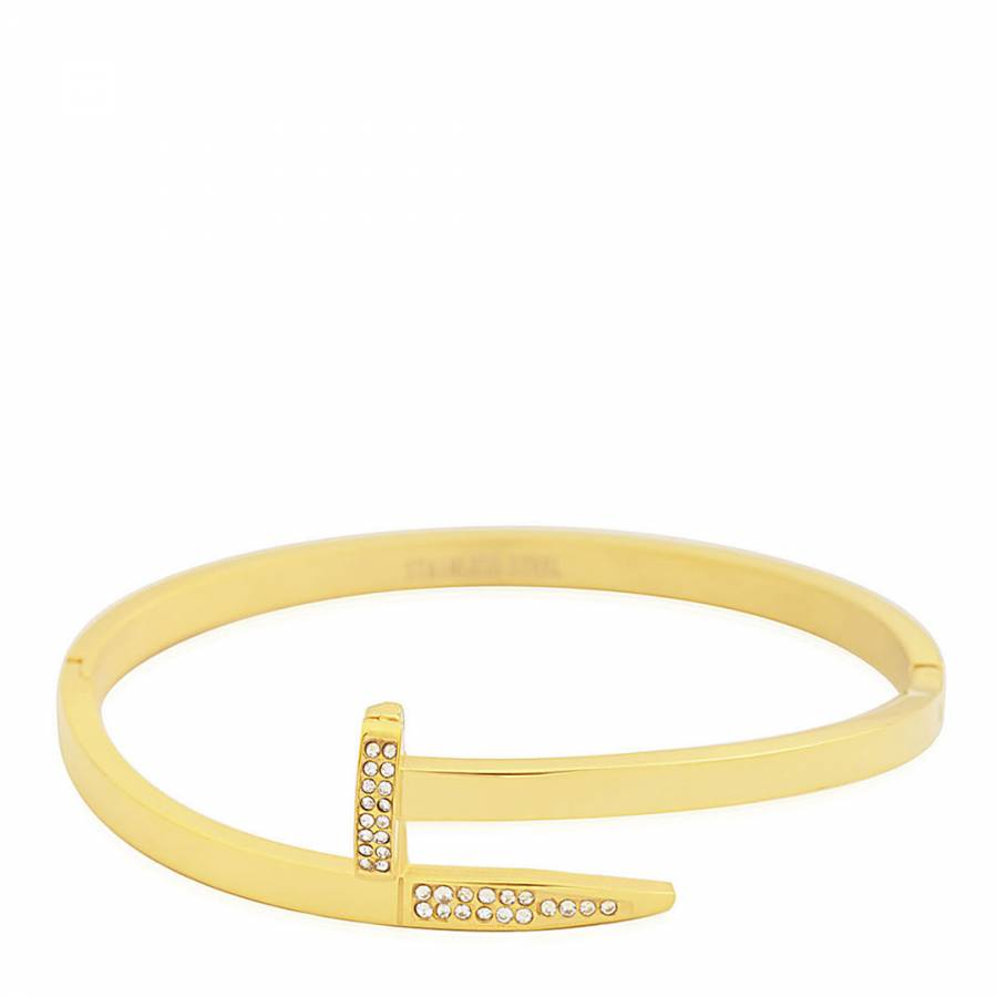 cartier and featuring nail pin closures threaded accents bracelet gold screw love throughout head white designer