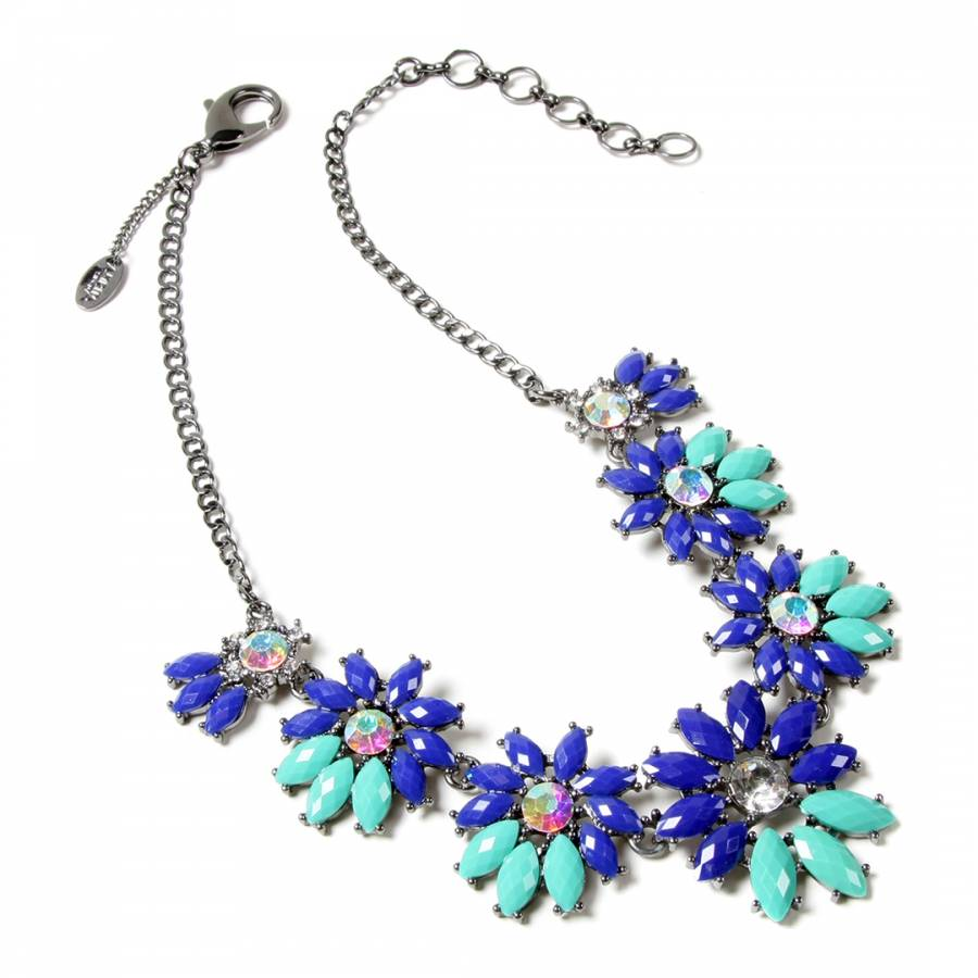 Image of Blue/Turquoise Daisy Necklace