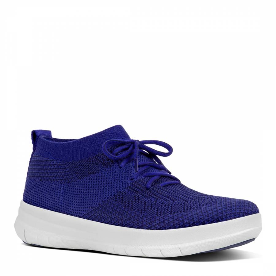 Mazarine Blue Black Uberknit Slip On High Top Sneakers