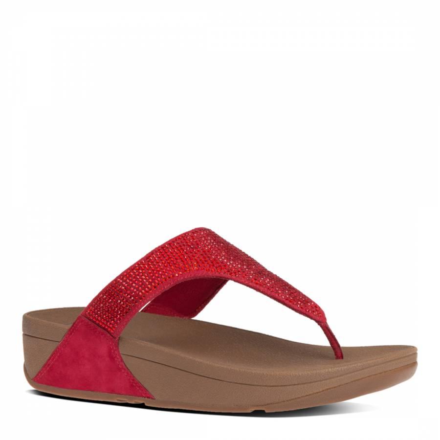 FitFlop Poppy Red Slinky Rokkit Toe Post Sandals