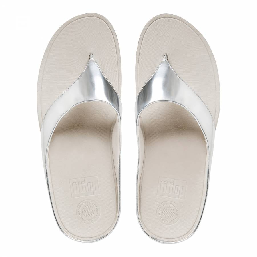 b738d1c28ba Silver Leather Blend Superlight Ringer Toe Post Sandals - BrandAlley