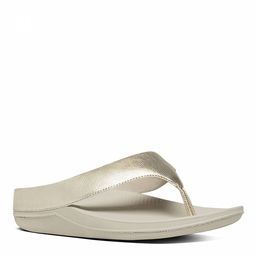 2cc42e226f2803 Pale Gold Leather Blend Superlight Ringer Sandals - BrandAlley