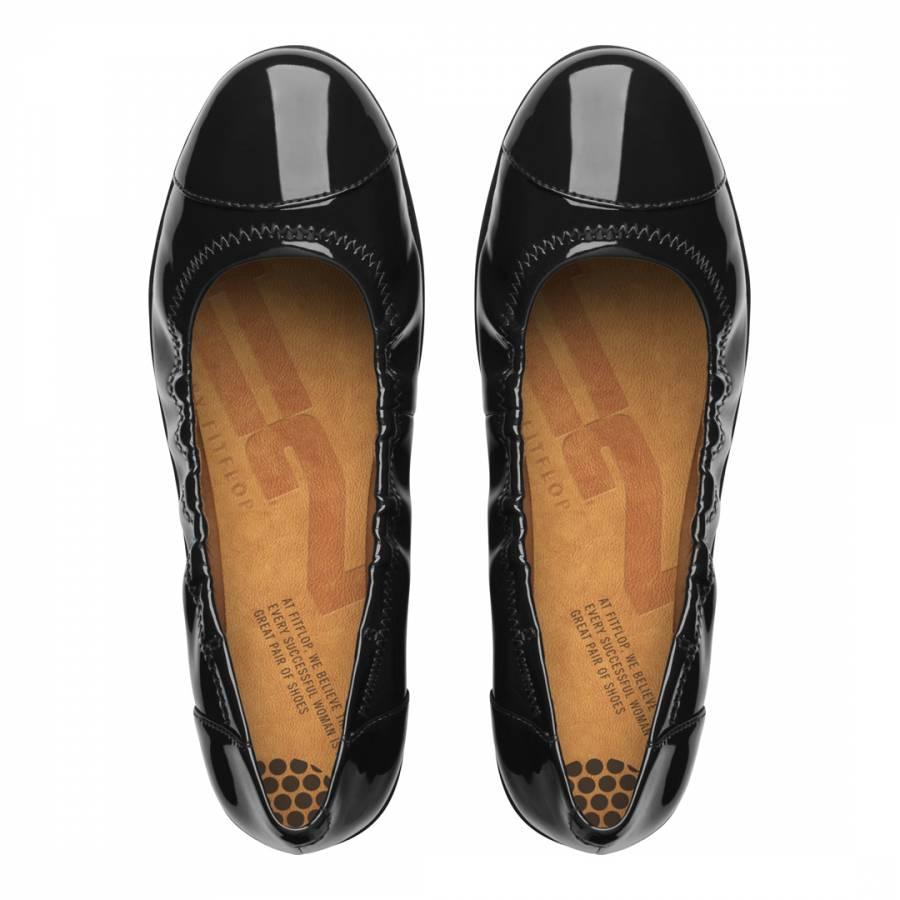 c018a0a8f Black Patent Leather Blend F Pop Ballerina Flats - BrandAlley