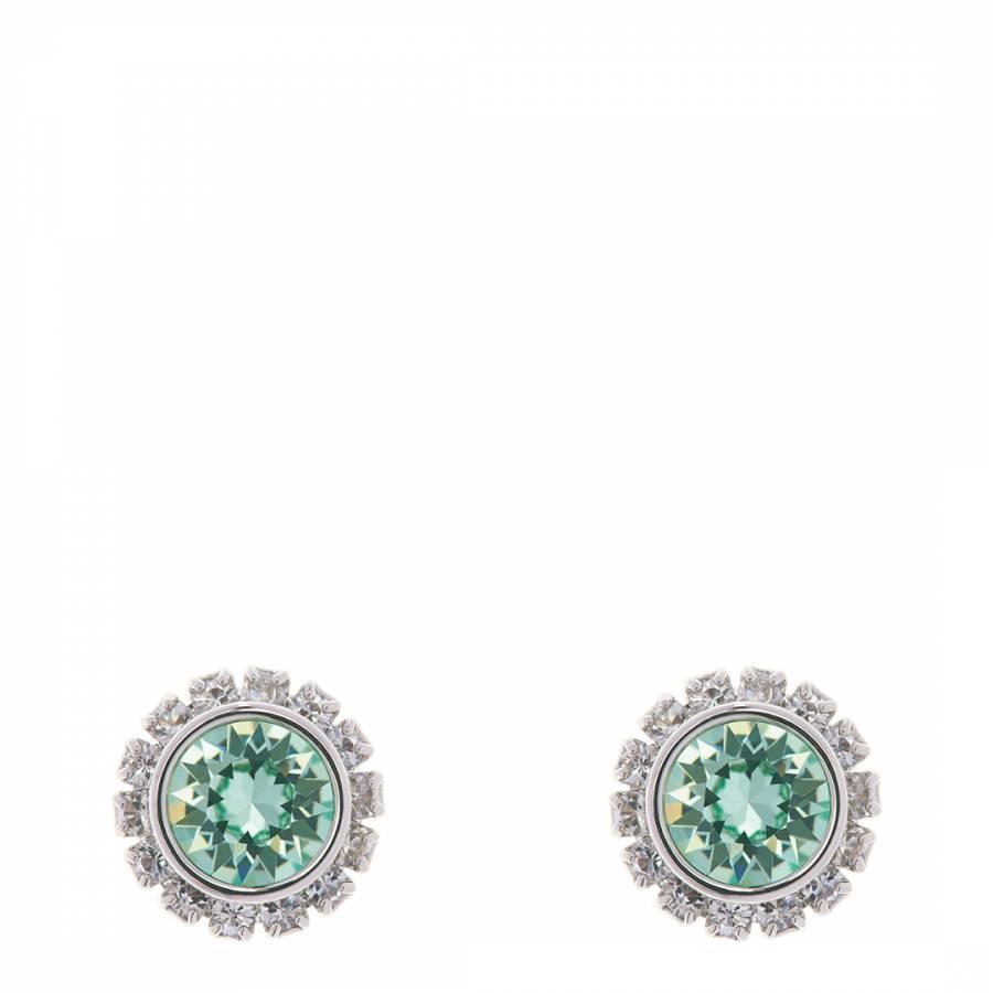 7cbb3e40aa25 Green Silver Swarovski Sully Stud Earrings - BrandAlley