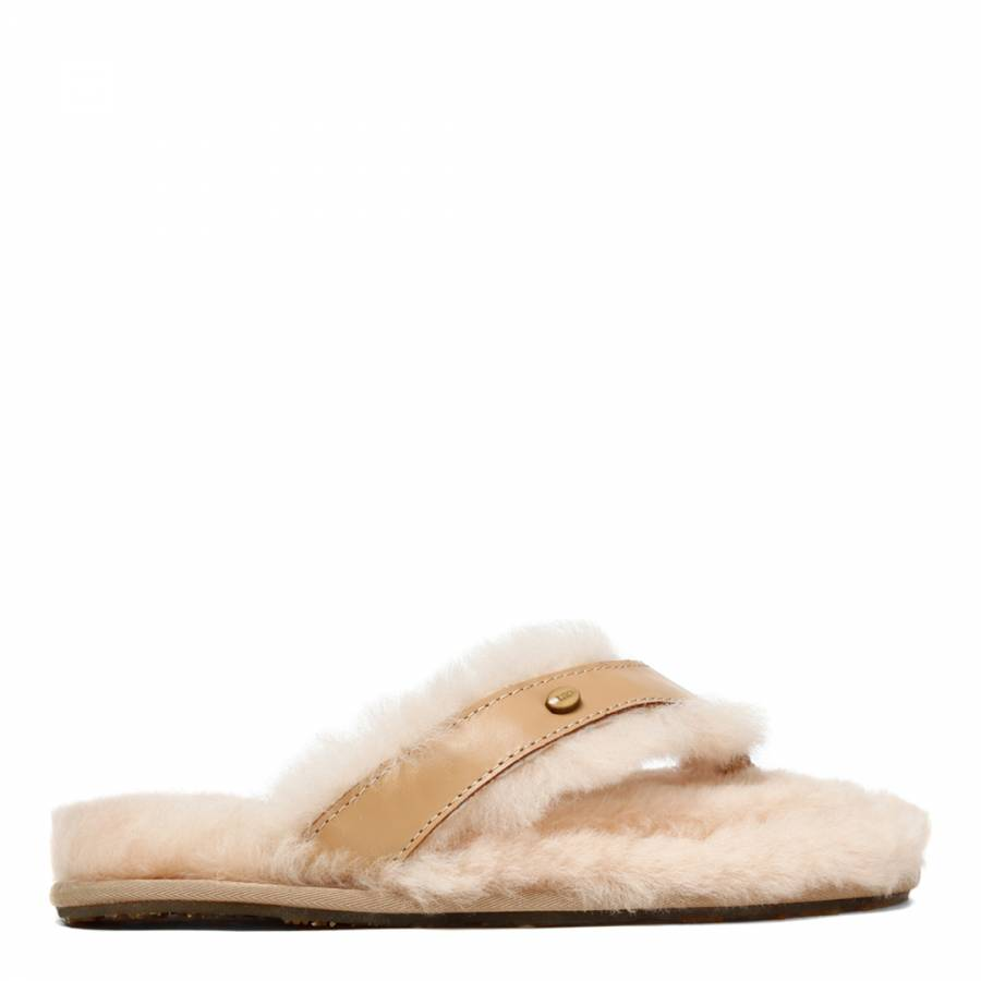 7b913bd7061 Women s Baby Pink Sheepskin Flip Flop Slipper - BrandAlley