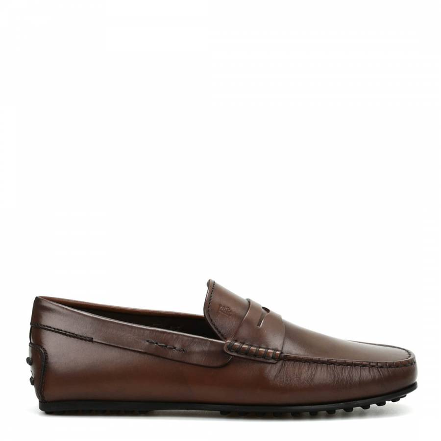 c0a1a9f2644 Men s Brown Leather City Gommino Loafers - BrandAlley