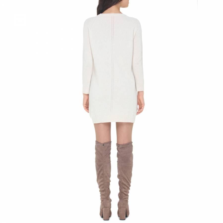 43234b30420a10 Dove Cashmere Blend Long Sleeve Dress - BrandAlley