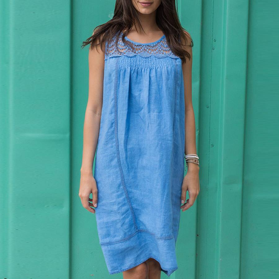 1dc30f73b11 Marina Blue Ibiza Linen Dress - BrandAlley