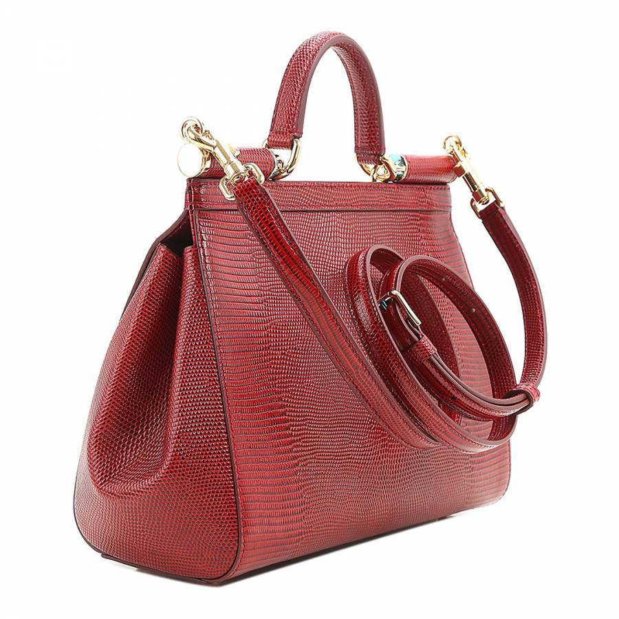 c448b671c1 Red Iguana Print Leather Medium Miss Sicily Bag - BrandAlley