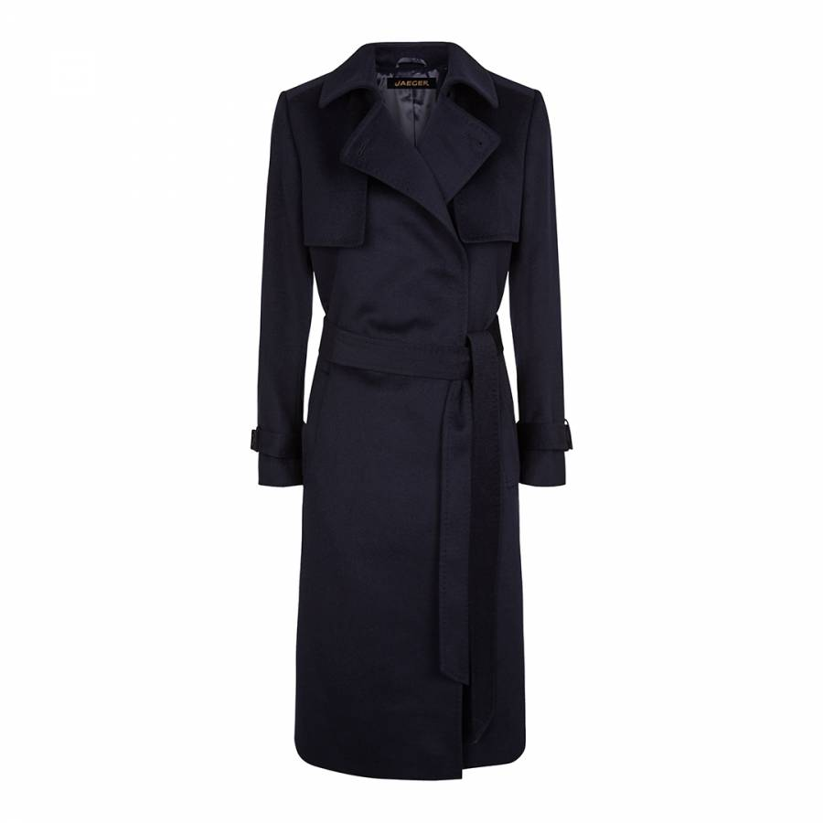 run shoes united states special for shoe Navy Wool Trench Coat - BrandAlley
