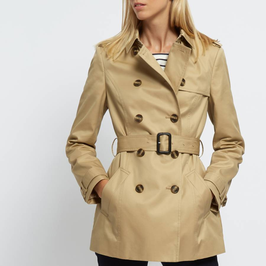 new product performance sportswear look for Camel Short Trench Coat - BrandAlley