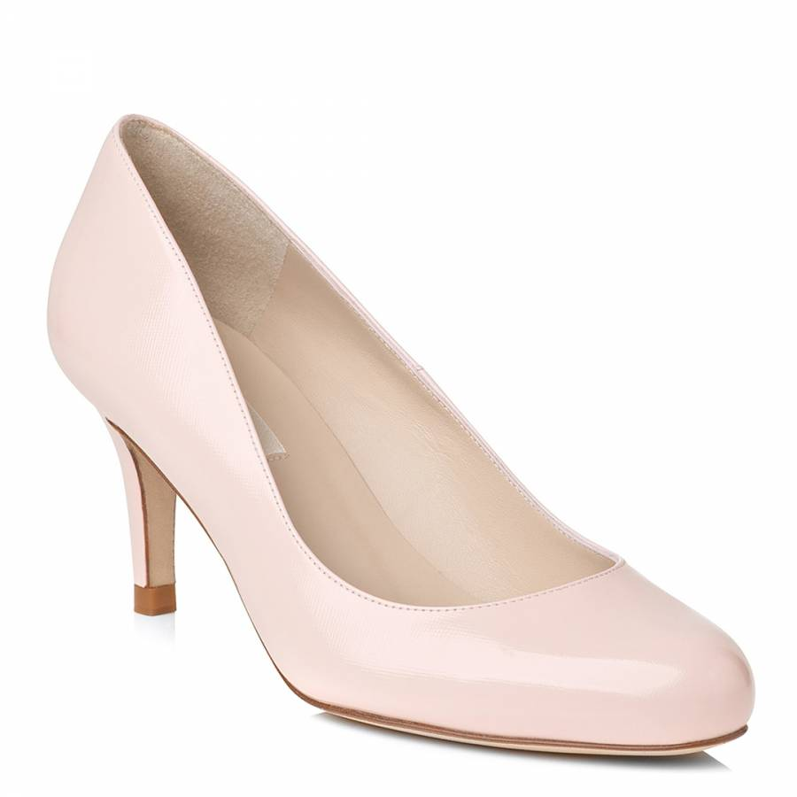 445578185c4 Pale Pink Patent Mid Heel Court Shoe - BrandAlley