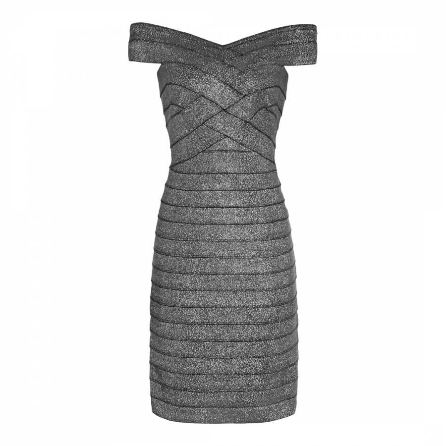 3e0ea787195af Silver Paneled Bodycon Hartley Dress - BrandAlley