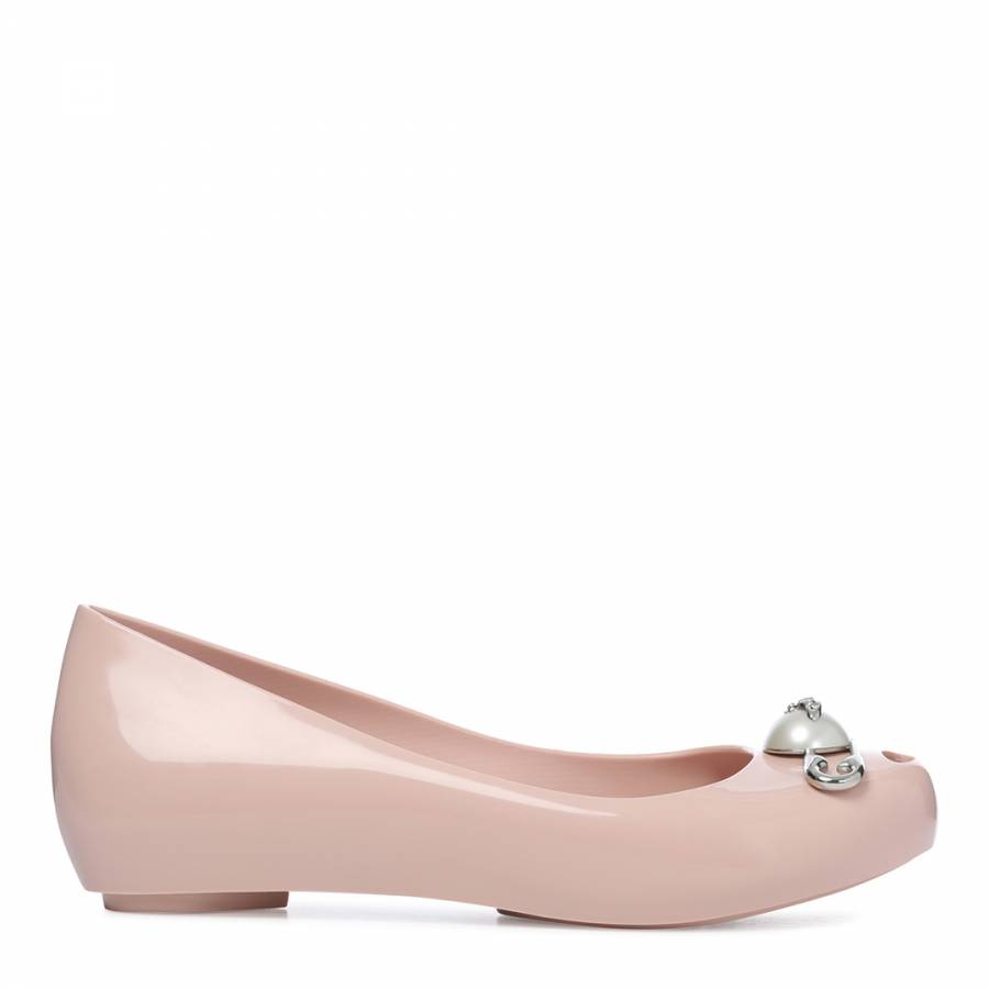 25844a145 Vivienne Westwood for Melissa Blush Ultragirl 19 Pin Ballet Pumps