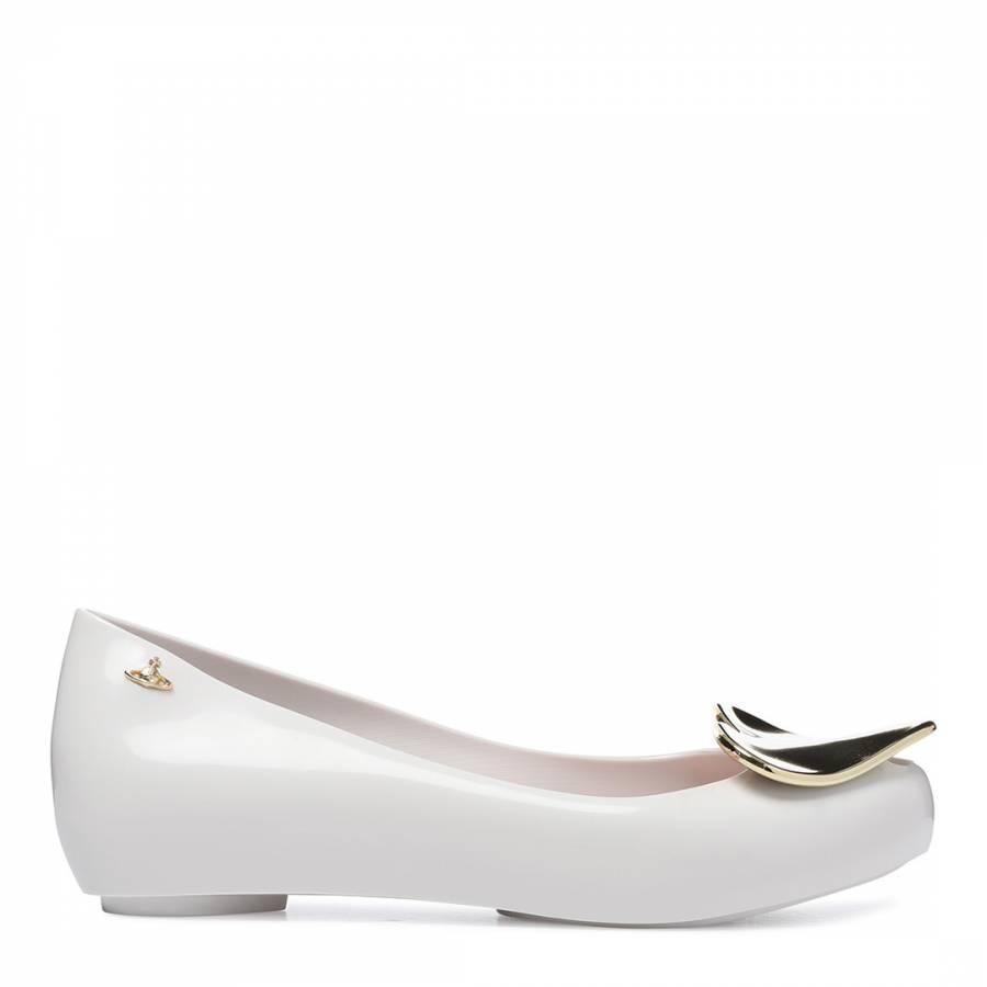 White Ultragirl 19 Heart Ballet Flats