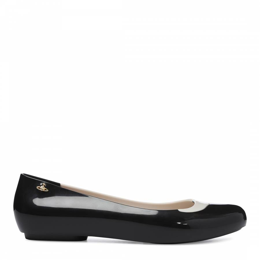 Black And White Contrast Charlie Pumps