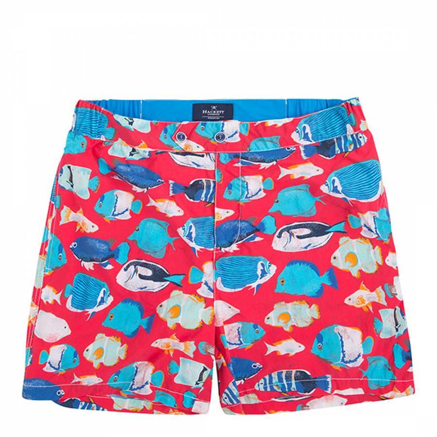 Red tropical fish swim shorts brandalley for Fishing swim trunks