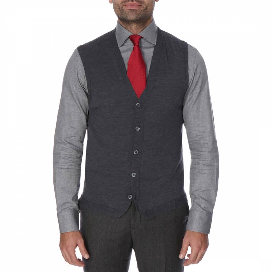 Harga Dan Spek Sleeveless Cardigan Update 2018 Ameera Longsleeve Tunic Shirt Sr53510zh Dark Grey Merino Wool Brandalley Hackett London