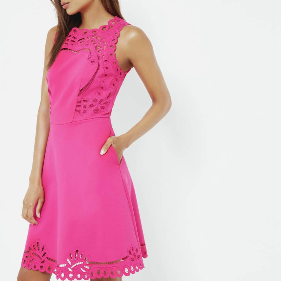 6bf9c0a3abdff3 ... Bright Pink Verony Embroidered Skater Dress - BrandAlley huge sale  39672 a2ea9 ...