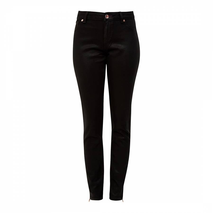 cb8475138 Black Annna Wax Finished Skinny Jeans - BrandAlley