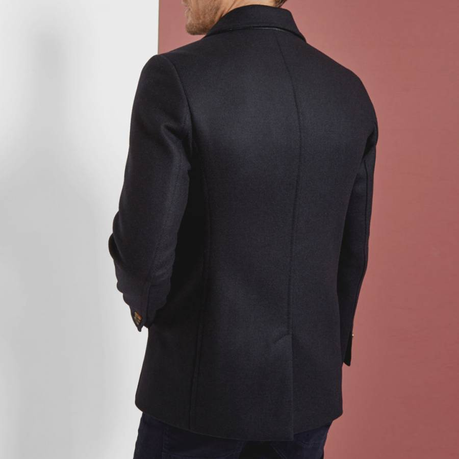 5d344d841 Navy Biza Twill Wool Blend Peacoat - BrandAlley