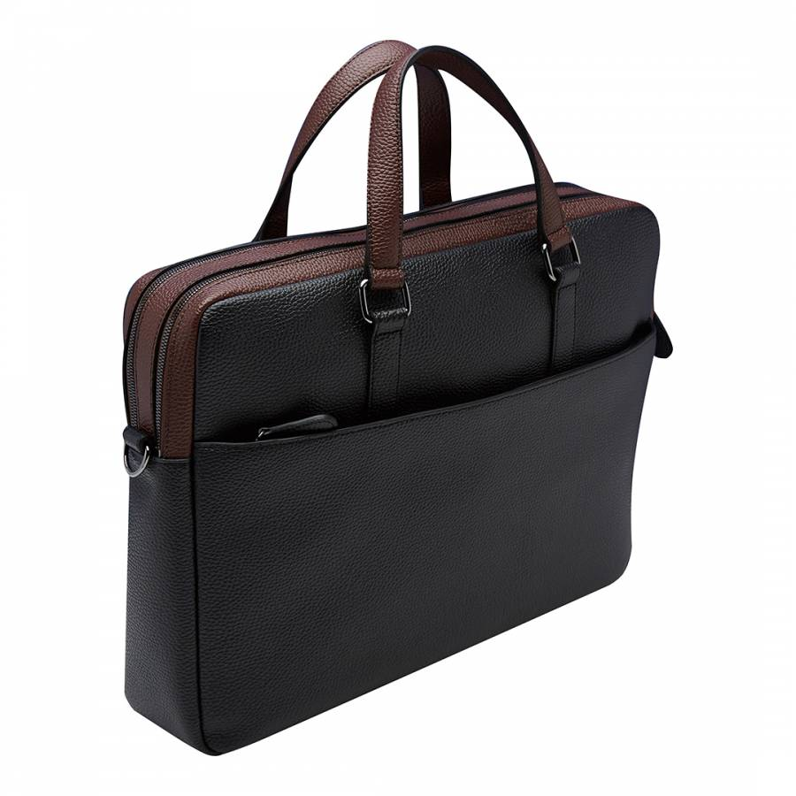 36695aba86af Black Alvaro Colour Block Document Bag - BrandAlley