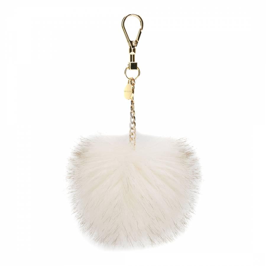 4f3dcc0cb8ac Cream Julita Faux Fur Bag Charm - BrandAlley