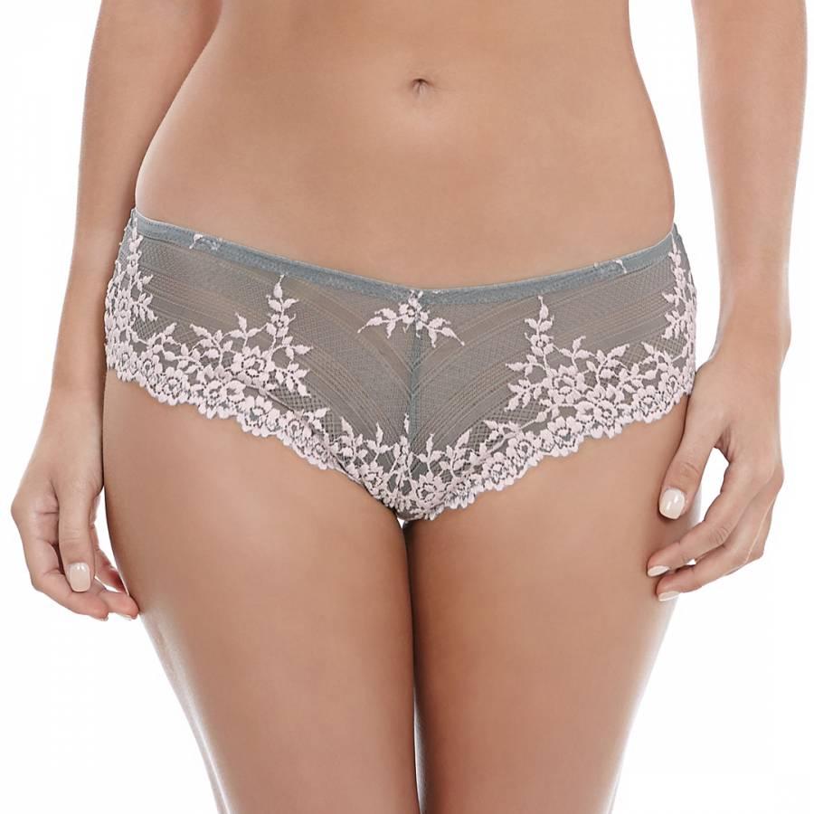 5d896dc184596 Grey Embrace Lace Thong - BrandAlley