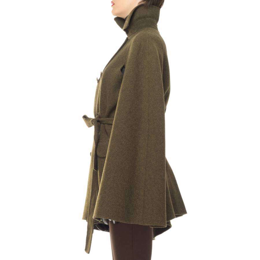 OLD STYLE Loden Brushed Double wear Belted Cape - BrandAlley 820994fed4c