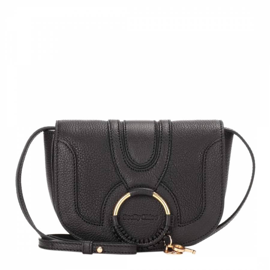 b64ac9323914 See by Chloe Black Goat Skin Hana Mini Crossbody Bag