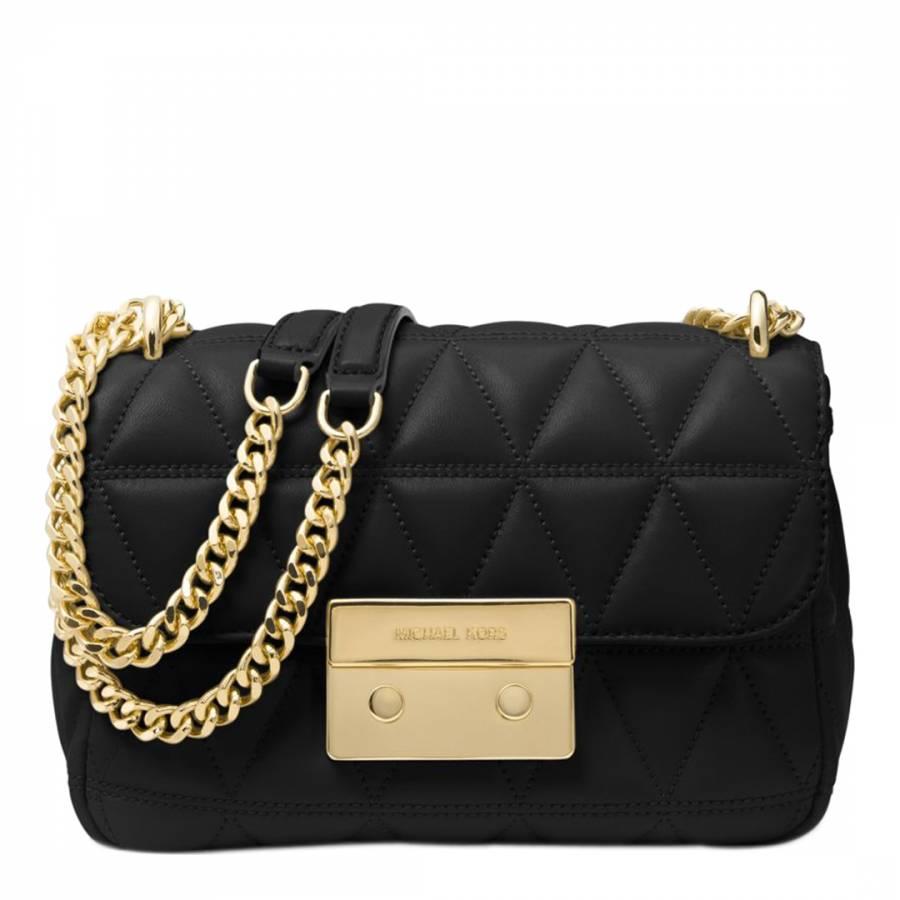 60fbfa18848b Michael Kors Black Sloan Small Quilted Leather Shoulder Bag. prev. next.  Zoom