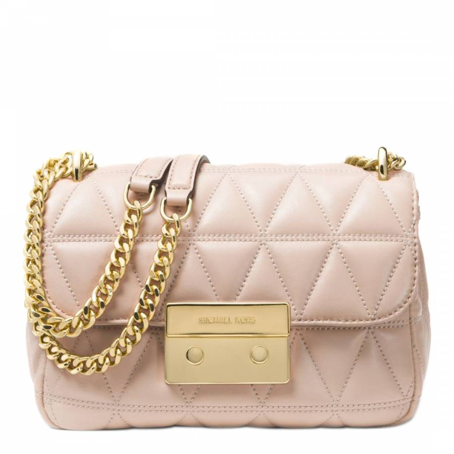 f382fc4114ae Michael Kors Soft Pink Sloan Small Quilted Leather Shoulder Bag
