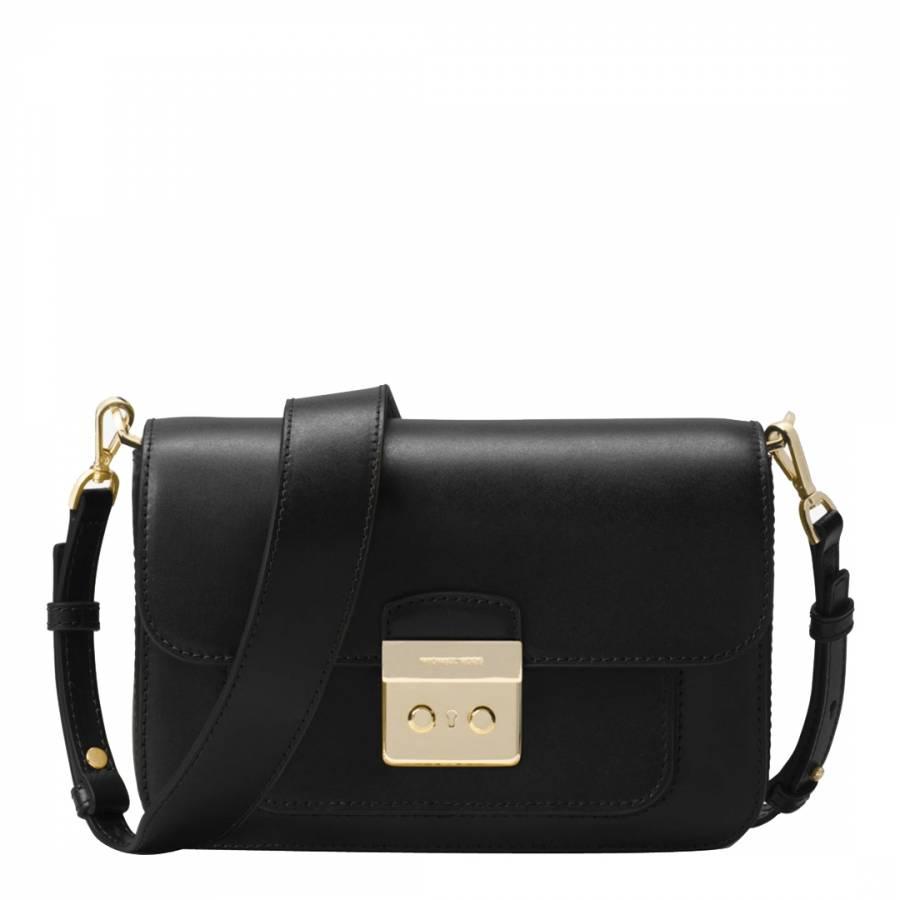 4eb049ee9981 Michael Kors Black Sloan Editor Leather Shoulder Bag. prev. next. Zoom