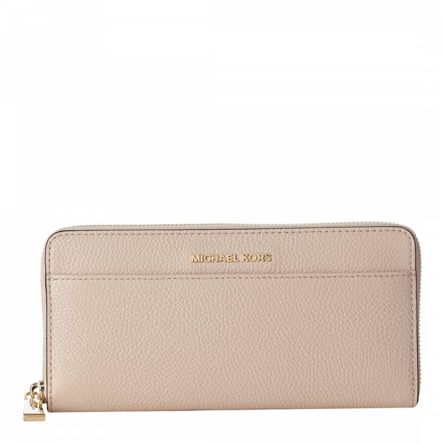 6fc248f6991f Michael Kors Soft Pink Jet Set Leather Continental Wallet
