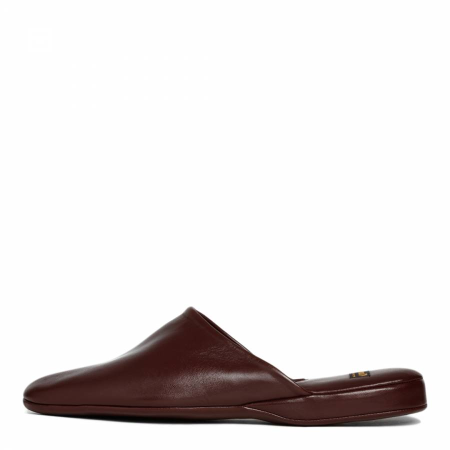 f4880ef57fb Bordeaux Leather Arran 03 Mule Slippers - BrandAlley