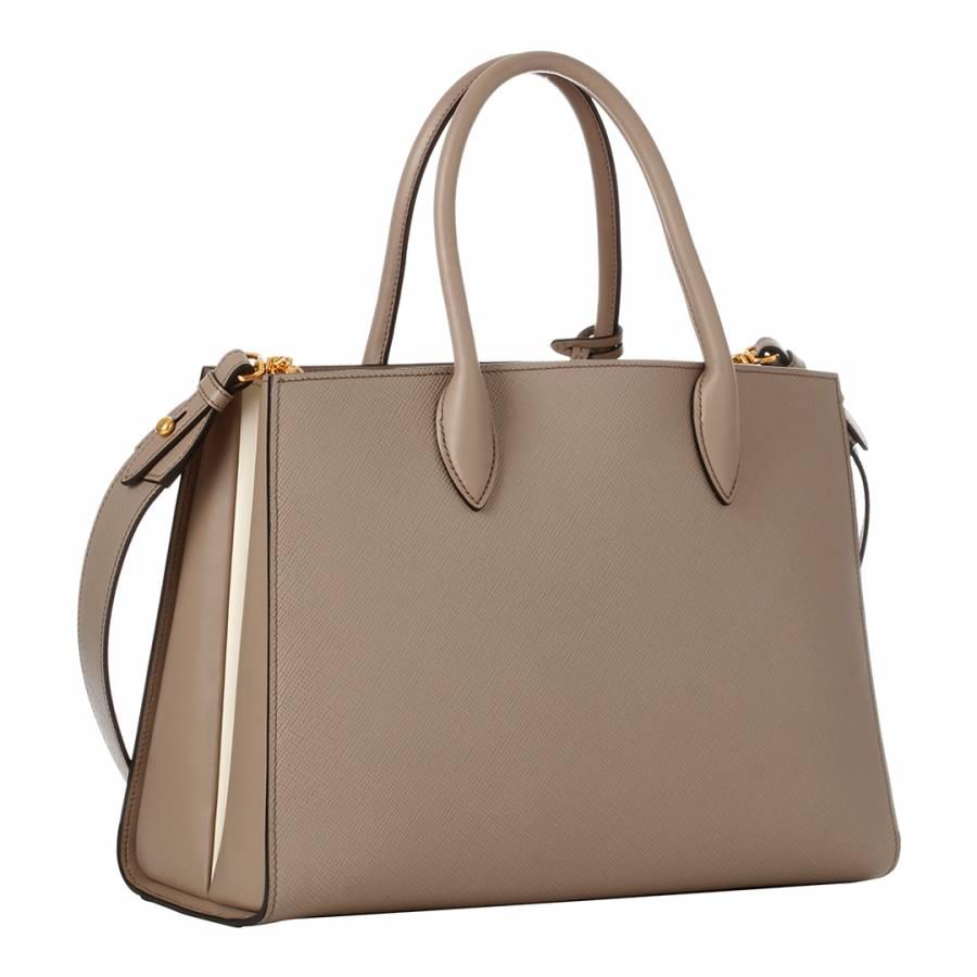 1cd7b069f538 Grey Medium Bibliotheque Leather Handbag - BrandAlley. Prada Bibliotheque  Handbag Saffiano Leather with City Calfskin Medium at 1stdibs