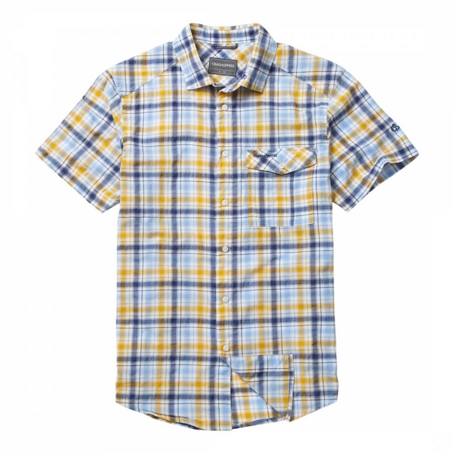 688c48c7b Men's Navy Avery Short Sleeve Shirt - BrandAlley