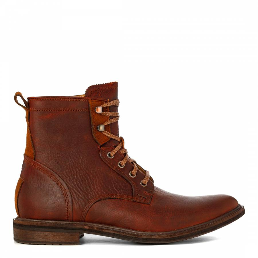 UGG Mens Redwood Leather Lace Up Selwood Boots