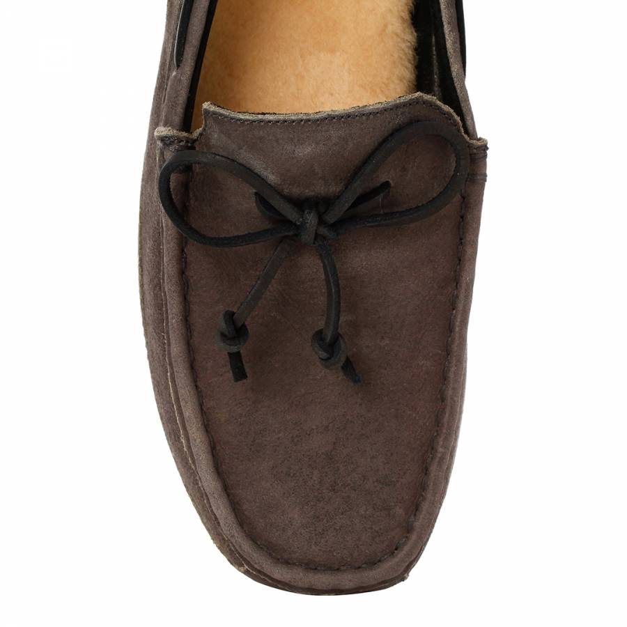 095ffc08e1e Mens Grey Suede Chester Loafers - BrandAlley