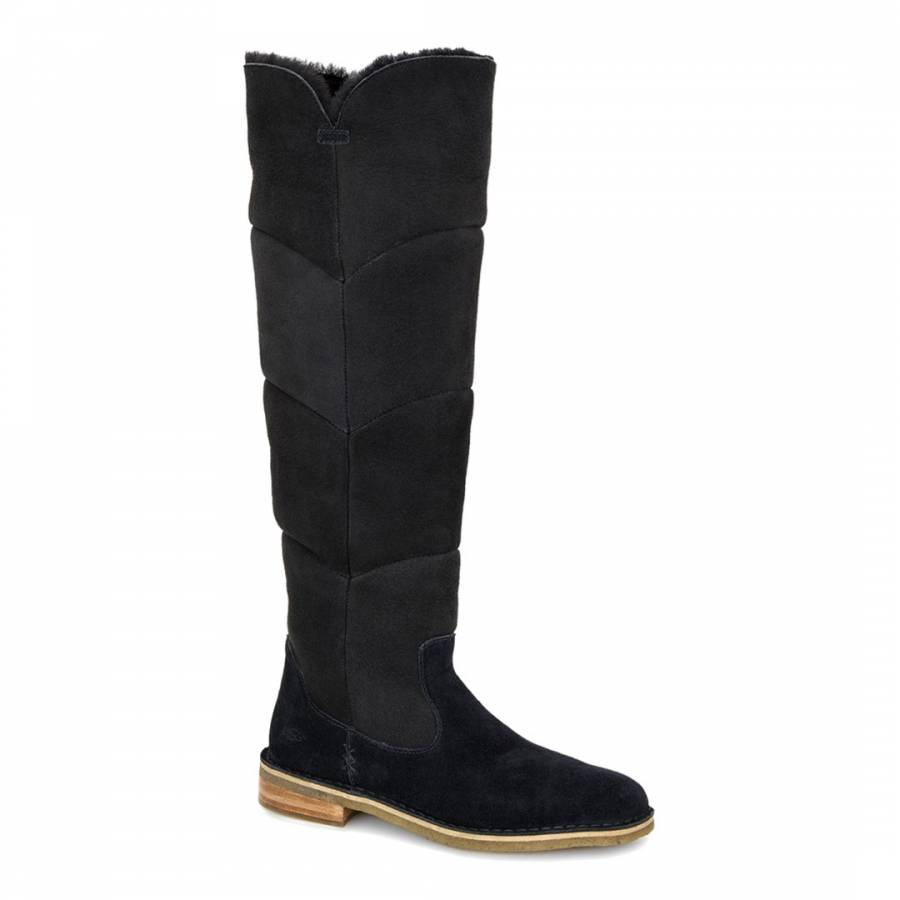 561cb25379f UGG Black Shearling Samantha Knee Boots